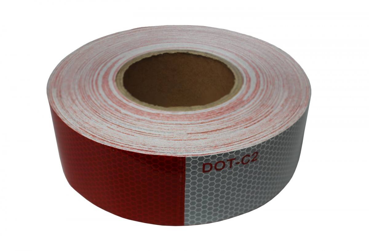 White Tape Alternating 2 Quot X 150 39 Red And White Reflective Tape