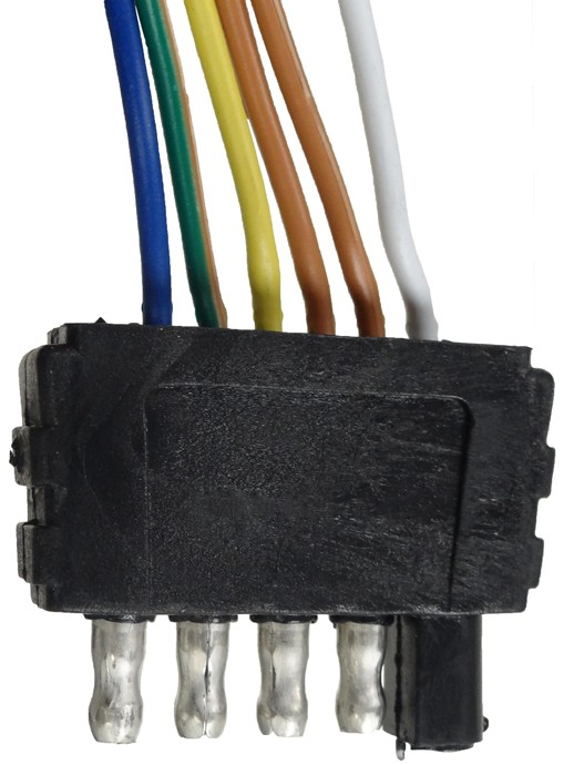 35\u0027 Wire Harness - 5-Way Flat Trailer End Connector - 48\