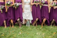 Purple Bridesmaid Dresses With Cowboy Boots | Wedding Gallery