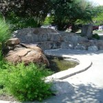 fountain near boulder creek path in colorado
