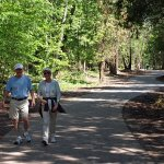 hikers on Michigan's sleeping bear heritage trail