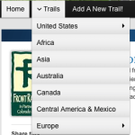Find trails throughout the world.