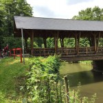 covered bridge on Ahr bike path in Germany