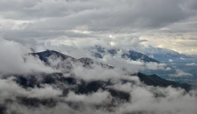 Cloudy View from Mt. Wire