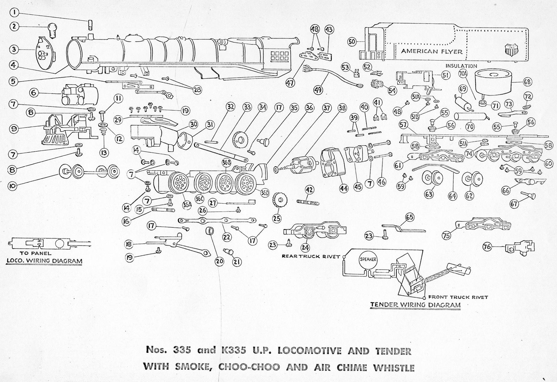 locomotive engine diagram