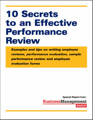 10 Secrets to an Effective Performance Review Examples and tips on - performance appraisal example