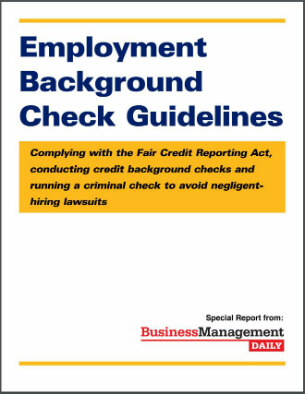 Employment Background Check Guidelines Complying with the Fair