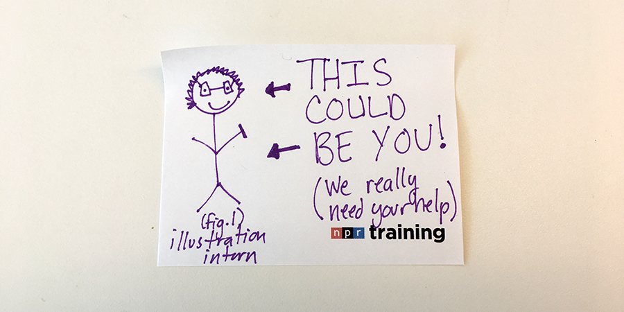 We\u0027re hiring a paid illustration intern NPR Training