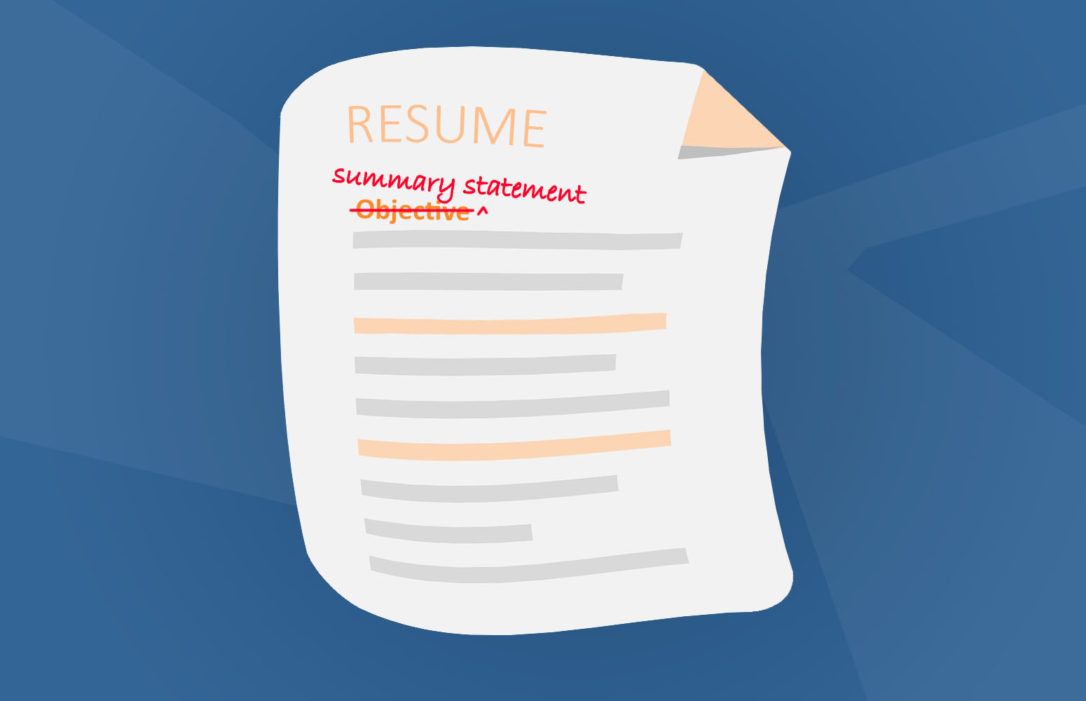 What is the difference between an objective and a summary statement - what is an objective summary