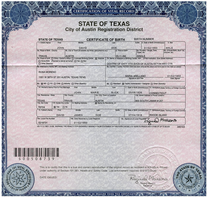 Kidney Health Care 101 Interactive Example - sample birth certificate template