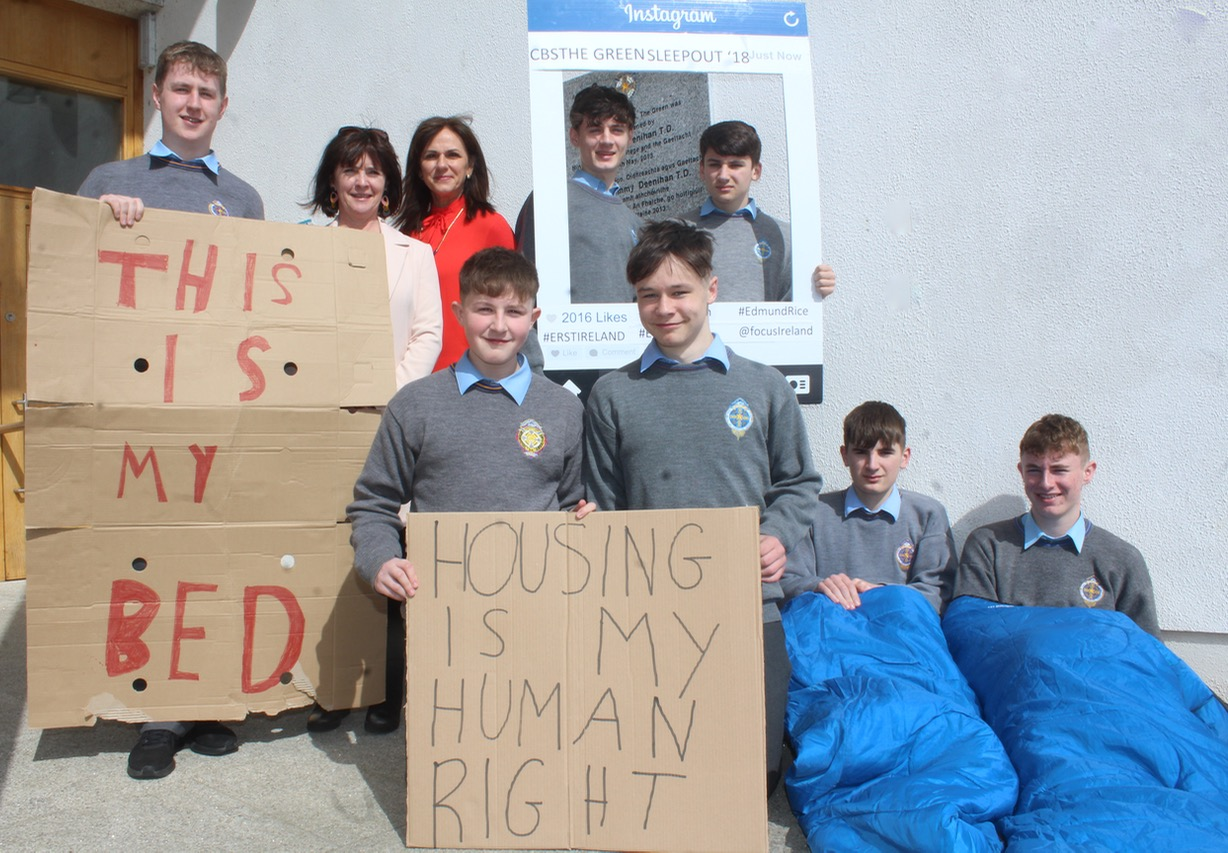 Focus Ireland Camino Cbs Students In Sleepout To Highlight Homelessness Issue