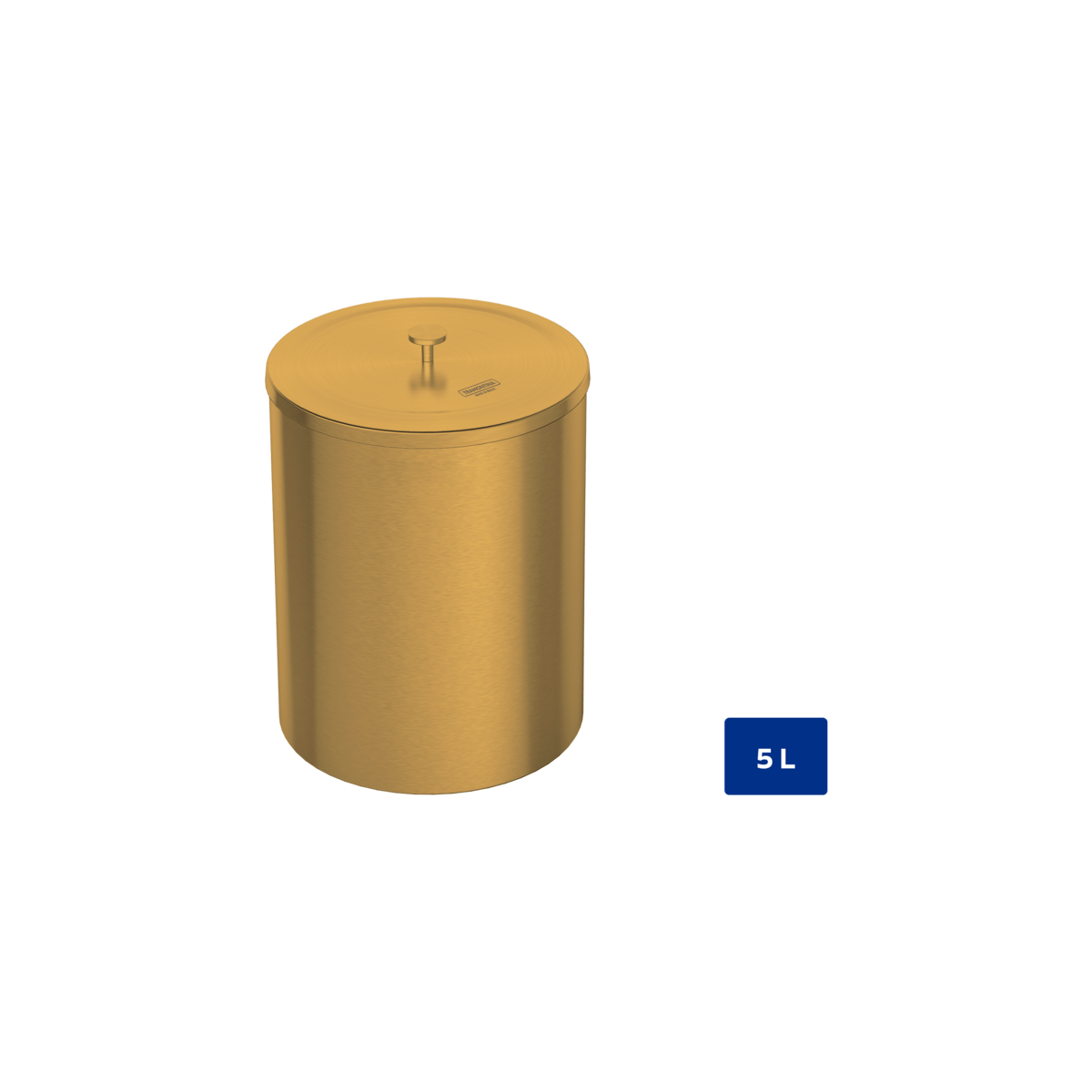 Laundry Trash Cans Tramontina 5l Útil Gold Trash Bin With Lid With A Polished Finish