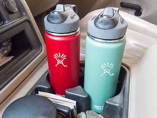 Hydro Flask Stainless Steel Insulated Water Bottle Review - Trans
