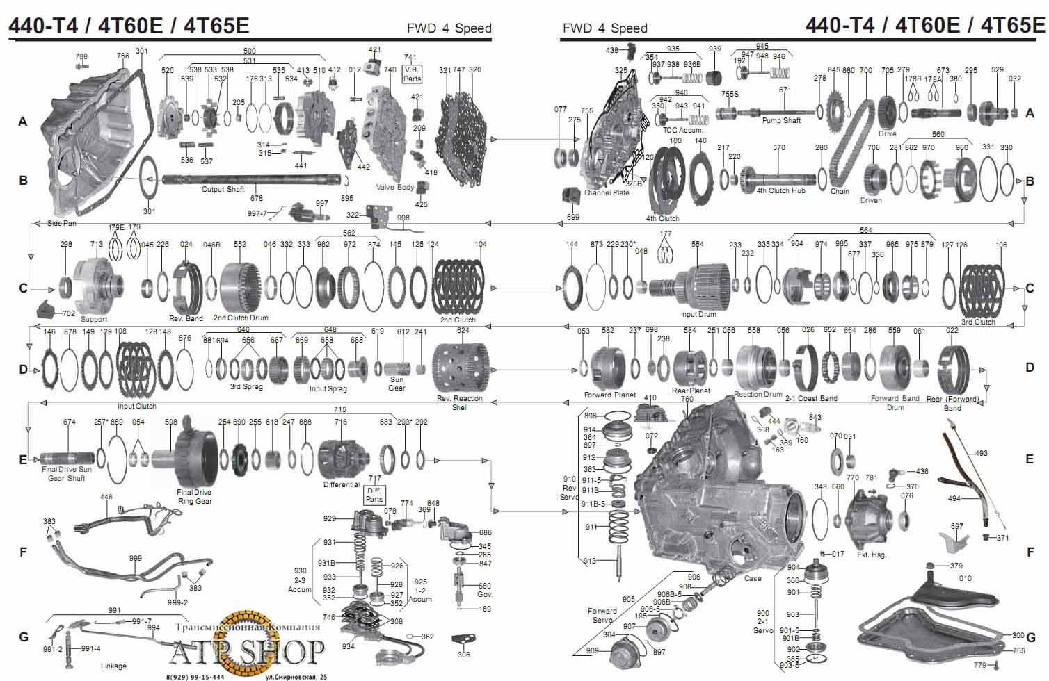 4t60e transmission parts diagram