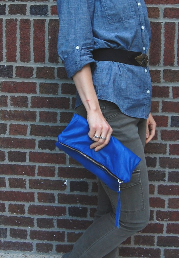 DIY lined leather clutch tutorial