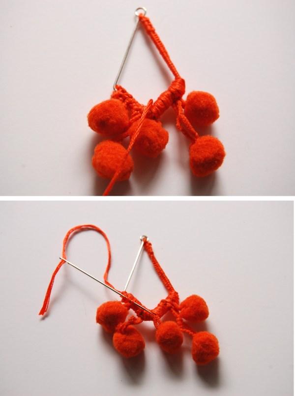 pom pom earrings DIY