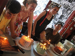 Folks enjoying a birthday party at the Little Grill Collective