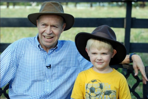James Hansen and his grandson