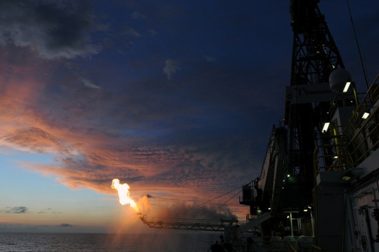 Flaring on the Deepwater Horizon