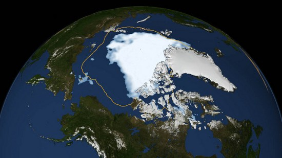 Arctic ice shrinkage
