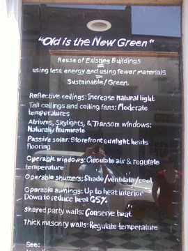 """Old is the new green"""