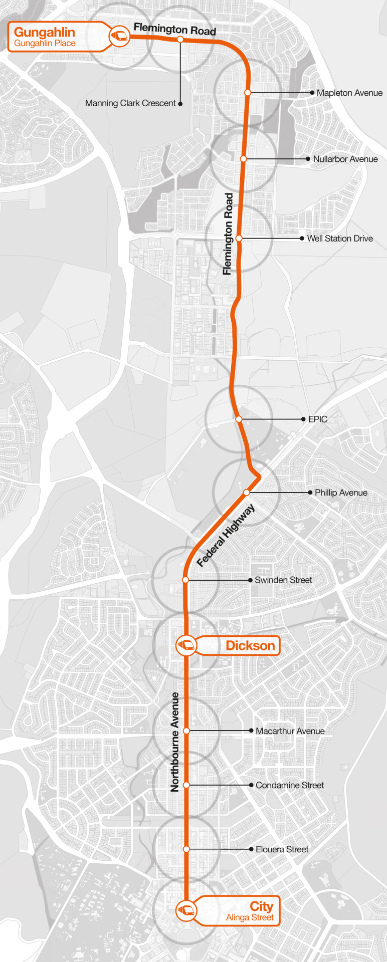 Map Of Canberra Transit Maps Submission Official Map Capitalmetro Lrt Pre