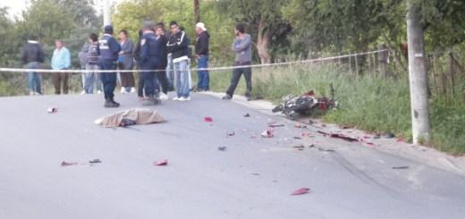 Accidente fatal de moto en Carlos Paz (Foto: @claudio_tejeda)