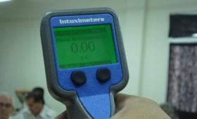Resultado 0 en un control de alcoholemia con aparato digital activo
