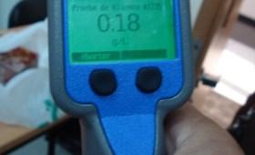 Resultado 018 en control de alcoholemia con aparato digital activo