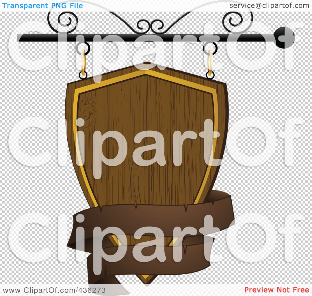 Store Banne 3.5 Royalty Free Rf Clipart Illustration Of A Blank Wooden