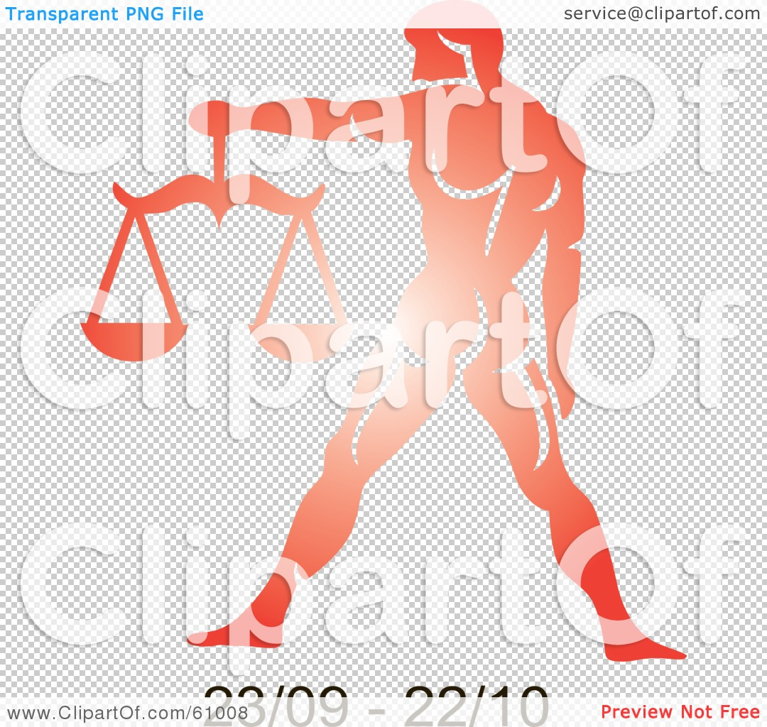 Red Libra Royalty Free Rf Clipart Illustration Of A Shiny Red