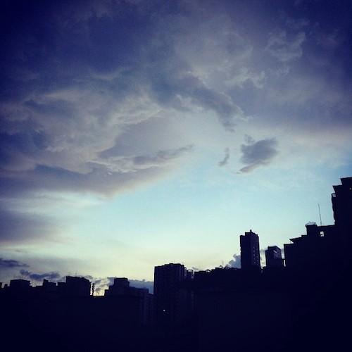Nuvems pós-chuva. Foto: Thiago Benichio