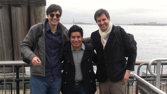 Júlio Lamas (Brasil), Ivan Ramirez (México) e Pablo Tomino (Argentina), vencedores da primeira edição do prêmio (em 2013), durante visita técnica a New York. Foto: Divulgação/ITDP
