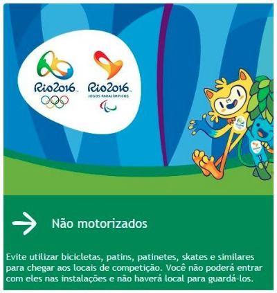 Captura de tela de email da organização dos Jogos.