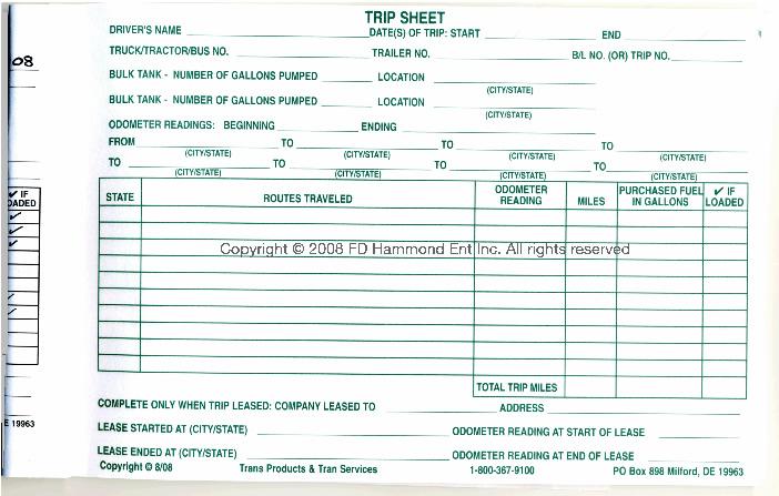 trip sheet format - Onwebioinnovate - trip log sheet