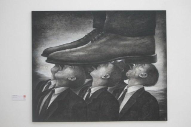 József Szurcsik's artwork at the National Salon. Source: artlimes.hu