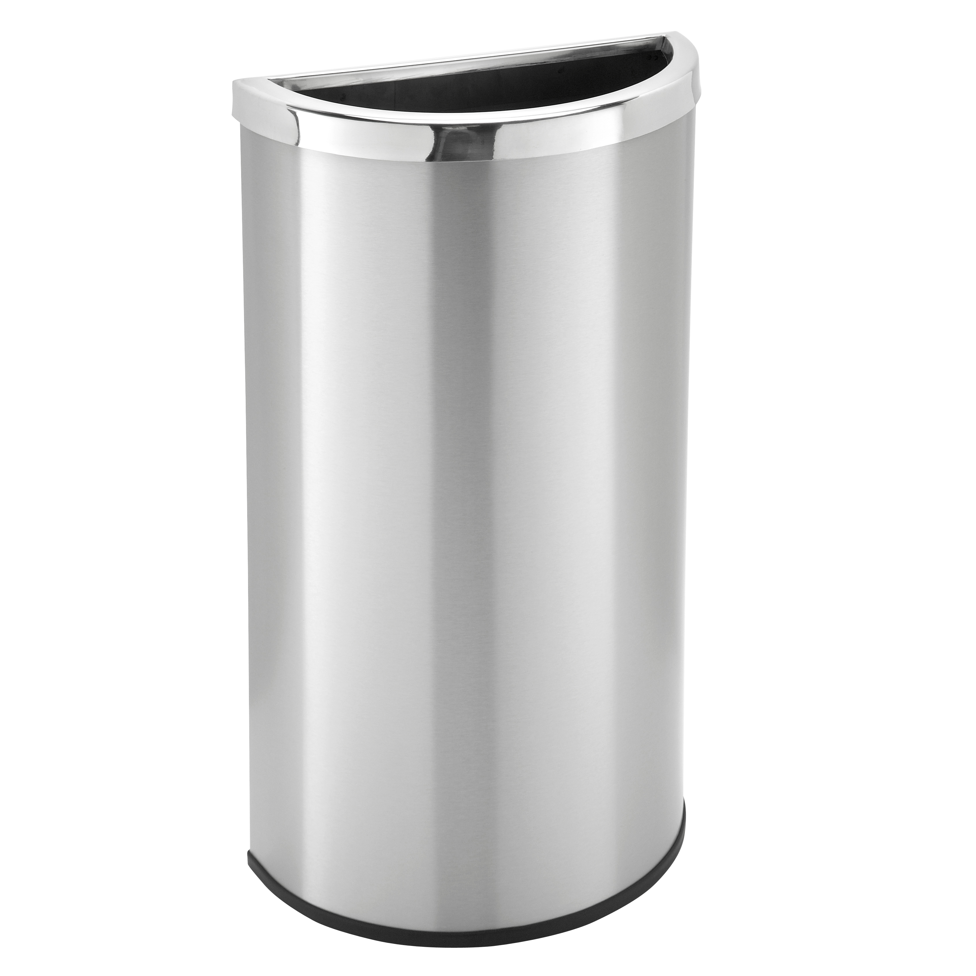 Rvs Vuilnisbak 8 Gallon Stainless Steel Half Round Garbage Can Trash