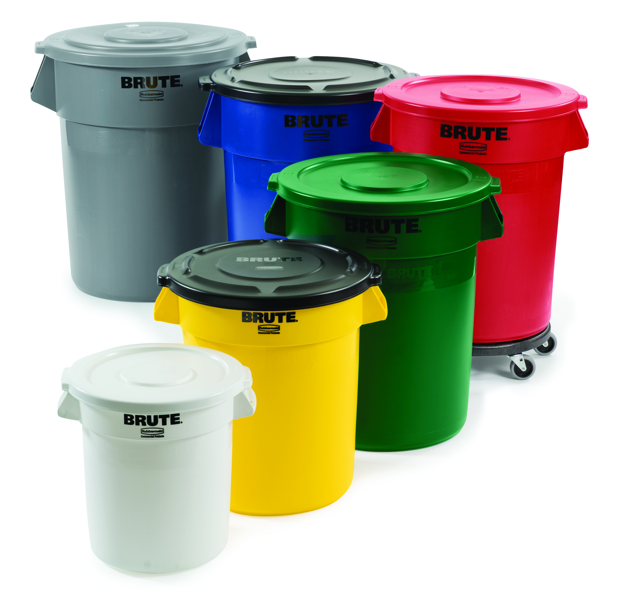 Colorful Garbage Cans 55 Gallon Brute Container Pack Of 3