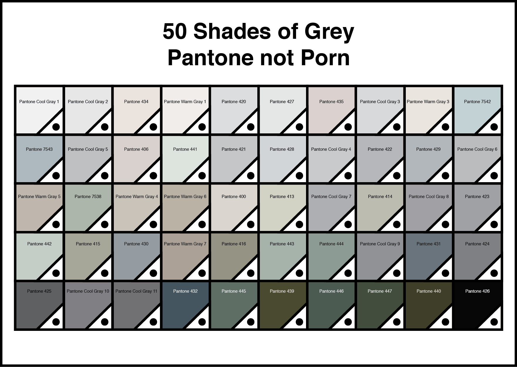 Shads Of Gray 50 Shades Of Grey Pantone Not Porn Mark Catley Design
