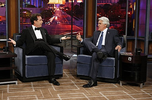 Jerry Seinfeld on the first episode of The Jay Leno Show