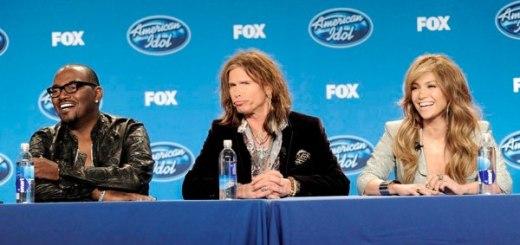 Randy Jackson, Steven Tyler and Jennifer Lopez