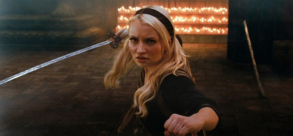 Emily Browning is Babydoll in Sucker Punch, directed by Zack Snyder.