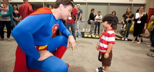 Superman with a fan at Comic Con 2012
