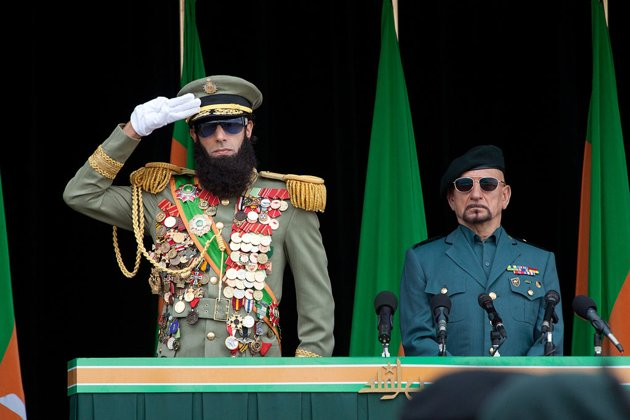 Sacha Baron Cohen and Ben Kingsley in The Dictator