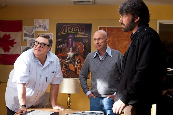"""JOHN GOODMAN as John Chambers, ALAN ARKIN as Lester Siegel and BEN AFFLECK as Tony Mendez in """"ARGO,"""" a presentation of Warner Bros. Pictures in association with GK Films, to be distributed by Warner Bros. Pictures. © 2012 Warner Bros. Entertainment Inc."""