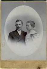 Николай Николаевич и Мария Петровна (ур. Петренко) Ландо-Безверховы (деды). Одесса, 1899