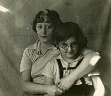 С тётей Ольгой Николаевной. Ленинград, 1936