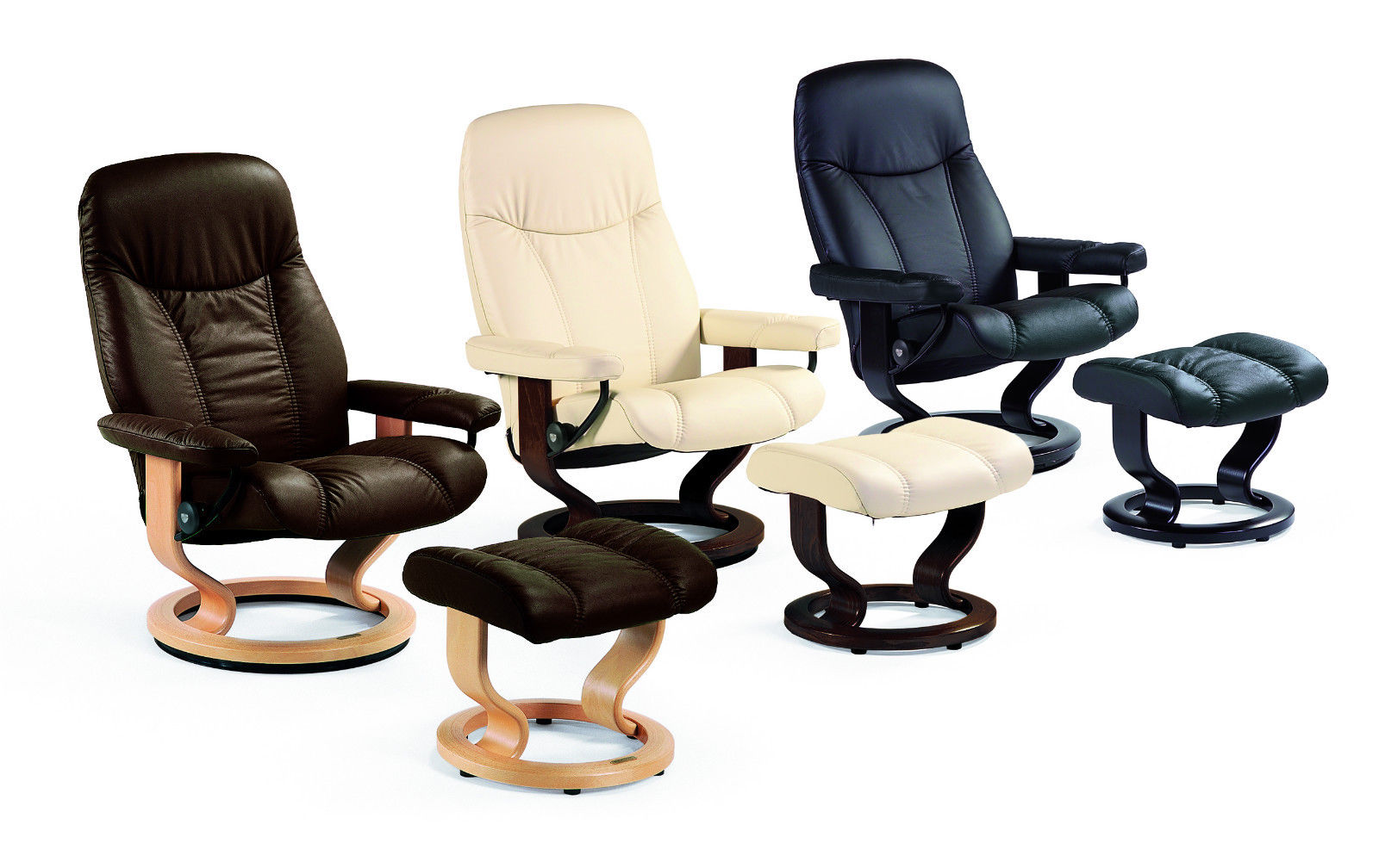 Stressless Consul M Sessel Und Hocker Stressless Consul Relaxsessel Mit Hocker In Leder