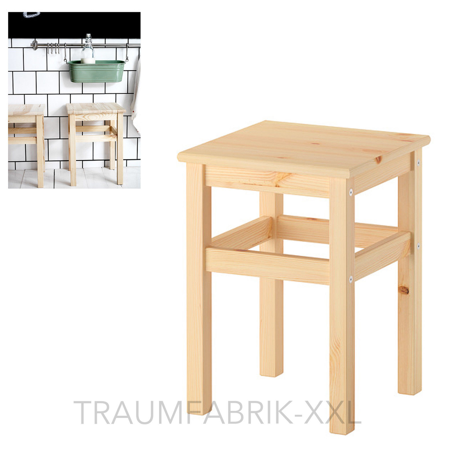 Schemel Hocker Ikea Oddvar Hocker Holzhocker Schemel Holzschemel 33x33x45cm Massive Kiefer Neu