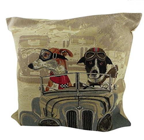 Bettwäsche Hundemotiv Cushion Oldtimer Blue